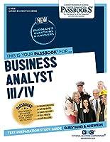 Business Analyst III/Iv (Career Examination)