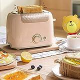 ZHIRCEKE Tostadora Multifuncional máquina de Limpieza sándwich de Desayuno pequeña tostadora tostadora automática,Rosado