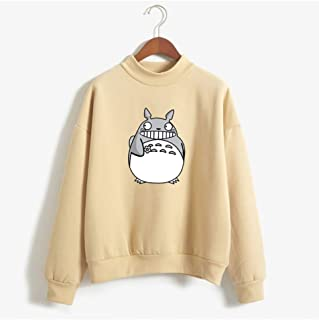 My Neighbor Totoro Print Sweatshirt Colorful Baggy Tops, Women's Pullover Sweatshirt, Pullover Tops Blouse Clothes Teens Girls Boys