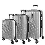 Set di 3 Valigie Trolley da Viaggio Rigide - Tris Bagaglio a Mano e da Stiva Ultra Leggeri in ABS...