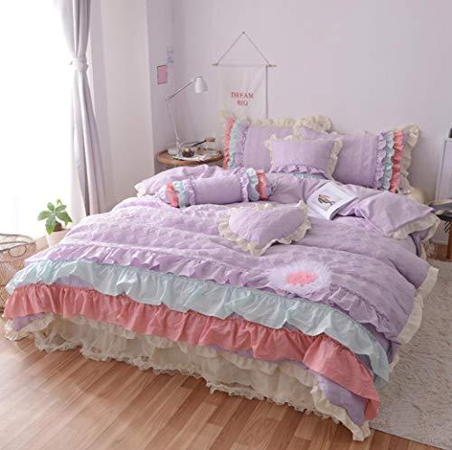 DESY Top Dolce Prinsessin Wind Bedding Set met strati volant dekbedovertrek elegant kant dekbed blad prinses bed afdekking rok