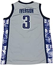 VNI New 3 Iverson Mens College Basketball Jerseys Gray