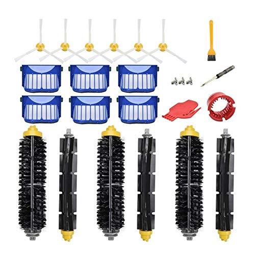 Kit de accesorios de repuesto para aspiradora Irobot Roomba 600 Series 690 680 660 651 650 (no apto para 645 655) 500 Series 595 585 564 552,6 (color: multicolor)