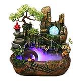CAIM & Table fountain Piedra Bonsai Fuente de Mesa, Fuente de Interior Decorativo con el Acuario Fuente, Donde la Sala de Estar, Oficina, Sala de té (Color : B, tamaño : 19.68 * 25.19IN)