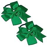 Lazo para el pelo con elástico, 2 unidades Verde Emerald Green Talla única