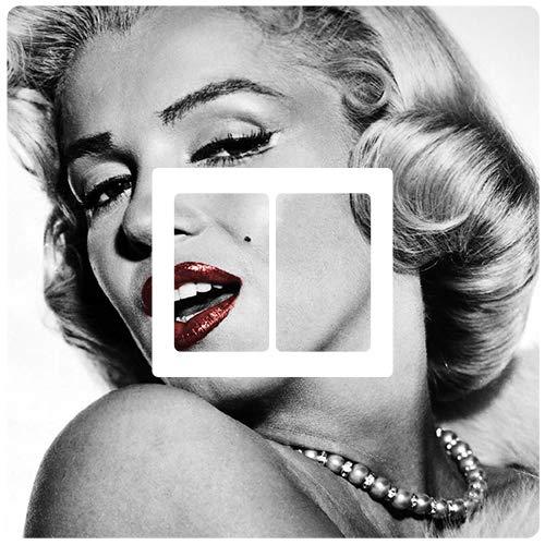 stika.co Adesivo per Interruttore Doppio, Motivo: Marilyn Monroe, Colore: Bianco e Nero