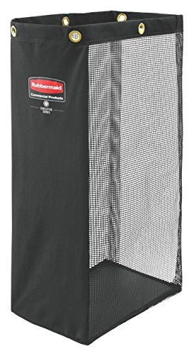 Rubbermaid Commercial Executive Series Side-Load Mesh Bag, Black 1966889