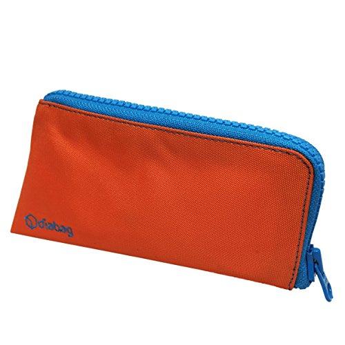 diabag SUNNY Diabetiker Tasche Groß (19 x 10 x 5,5 cm) Nylon Orange/RV Cyan, 230-3