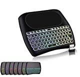 SmartTech D8 Mini Wireless Keyboard with Touchpad Mouse, 2.4Ghz Backlit Handle Rechargeable Keyboard