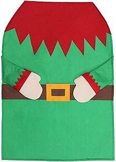 GXOK Non-Woven Kitchen Apron Santa Apron Elf Apron Christmas Decorations Xmas Gifts