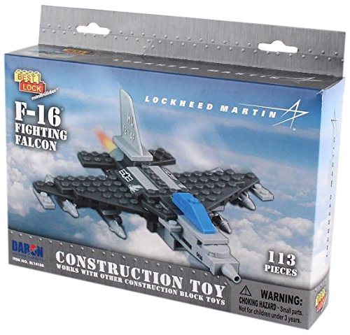 Daron F-16 Best Lock Construction Toy (113 Piece)