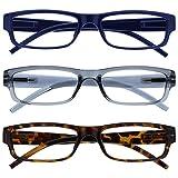 The Reading Glasses Company Gafas De Lectura Azul Gris Marrón Ligero Cómodo Lectores Valor Pack 3 Hombres Mujeres Rrr32-372 +2,50 3 Unidades 88 g