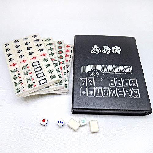 Set, Premium Carving Travel Mah-Jongg Game Set, Mini Juegos Tradicionales Chinos de 2CM Majiang para Bloques de Fiesta en Casa (Juegos de Escritorio)