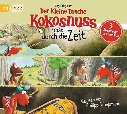 Der kleine Drache Kokosnuss reist durch die Zeit: Drei spannende Abenteuer in einer Box: Der kleine Drache Kokosnuss bei den Dinosauriern, Der kleine ... der Mumie (Hörbuch Sonderausgaben, Band 4)