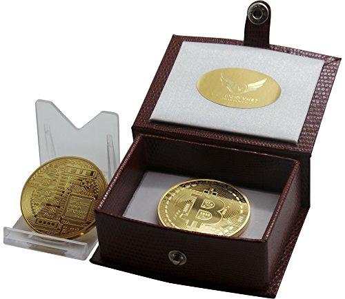 Bitcoin 24k Goud Gecoat met Certificaat in Geschenkdoos Luxe Geschenk voor Accountants Bullion Dealers Verzamelaars Internet Traders Portemonnee