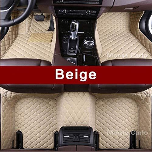 LUOLONG vloermatten voor in de auto, op maat gemaakte vloermatten voor Bmw 4-serie F32 F33 F36 M4 F82 F83 Gran Coupe converteerbare 3D-tapijten voor alle weersomstandigheden vloerbedekking Beige