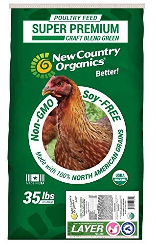 New Country Organics Soy-Free and Corn-Free Layer Pellets, 35 lbs