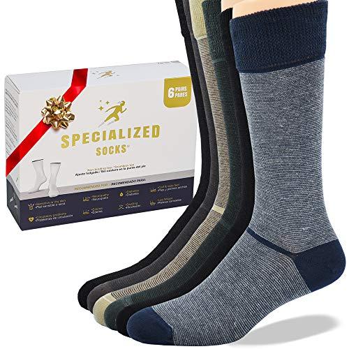 Specialized Socks Calcetines para diabéticos de Hombre/Mujer. Calidad Premium, suaves y extremadamente cómodos. Modelo DELGADO (de vestir)