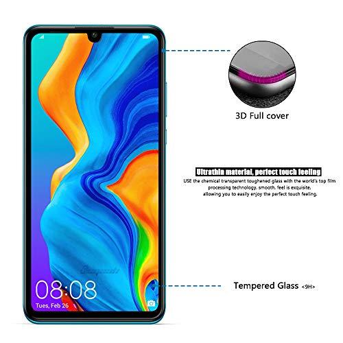 [2 Stück] Beyeah Displayschutzfolie für Huawei P30 lite Panzerglas, [Installationswerkzeug] [Perfekt Version] [Anti-Öl] [Anti-Bläschen] [lebenslange Garantie] (Schwarz) - 4
