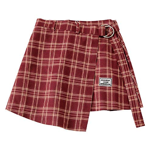 U/A Plaid Mini Falda De Las Mujeres Fondos De Cintura Alta Mujer Faldas De Verano Streetwear Casual Una Línea De Las Señoras Faldas Vintage Femenino Falda Corta