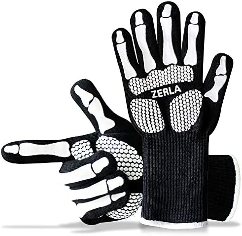 ZERLA Heat Resistant Gloves Protective Gloves Withstand Heat Up to 932 Use As Oven Mitts Pot product image