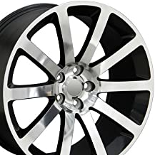 OE Wheels 20 Inch Fits Chrysler 300 Challenger SRT8 Charger SRT8 Magnum 300 SRT Style CL02 Polished with Black Pocket 20x9 Rim Hollander 2253