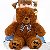 cucunu Teddy Bear Small Stuffed Animal | Cute and Soft Plush Toy for Baby Boys and Girls Kids Adults 20 Inches Brown or White