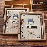 QWSAE notebook Kawaii Notebook Totoro Lindo Madera Agenda Papelería Vintage Diario Bloc De Notas Colegianos Suministros