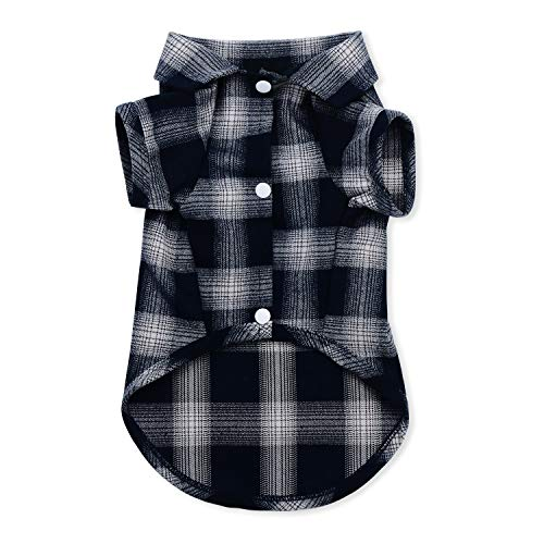 Koneseve Dog Shirt, Pet Plaid Polo Clothes Shirt T-Shirt, Sweater Bottoming Shirt for Small Dog Cat Puppy Grid Adorable Wearing Stylish Cozy Halloween,Christmas Costumes {Blue;XXL}