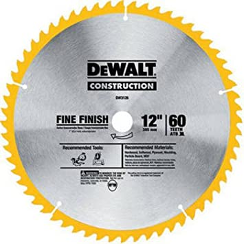 "DEWALT 12/"" 60 TEETH PREMIUM WOODWORKING SAW BLADE DW7648"