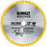 DEWALT 12-Inch Miter Saw Blade, Fine Finish, 60-Tooth (DW3126)