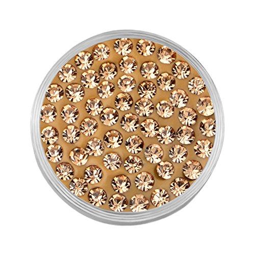 Quiges Dames Mini Coin RVS met Zirkonia Steentjes Goud voor Armbanden Oorbellen Hangers en Ringen