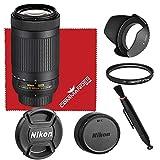 Nikon AF-P DX NIKKOR 70-300mm f/4.5-6.3G ED Lens Bundled Accessory Kit (White Box)
