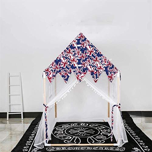 SHUNFENG-EU Moderna gran lona de algodón de madera para niños Play House Modelo británico Tienda de juegos para niños, tienda de campaña Bebé niña Princesa Castillo Juguetes Juguetes para jardín inter