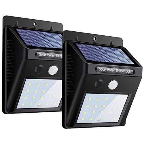 Énergie Solaire Sens lumière DEL étape escalier Jardin Path Deck clôture lampe de cour en aluminium