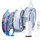 Bolsas de vacío para impresora 3D, reutilizables, kit de almacenamiento de filamentos, 6 bolsas de vacío con bomba eléctrica al vacío, bolsas de almacenamiento para evitar la humedad