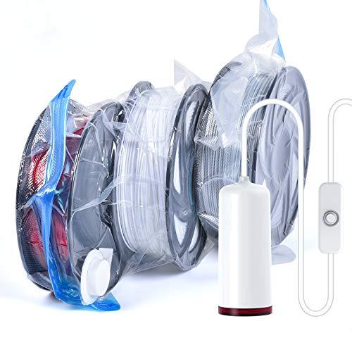 Sacchetti sottovuoto per stampante 3D, riutilizzabili, con pompa elettrica, per evitare l'umidità