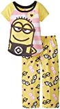 Despicable Me Girls' 2-Piece Pajama Set, Multi, 6