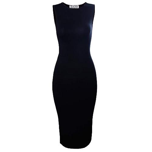 2f7eeae3d0321 TAM WARE Women s Classic Slim Fit Sleeveless Midi Dress