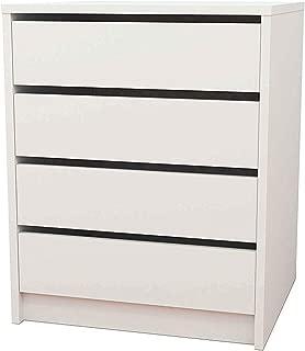 HOGAR24 Cajonera 4 cajones, Color Blanco, 62 cm x 50 cm x 44