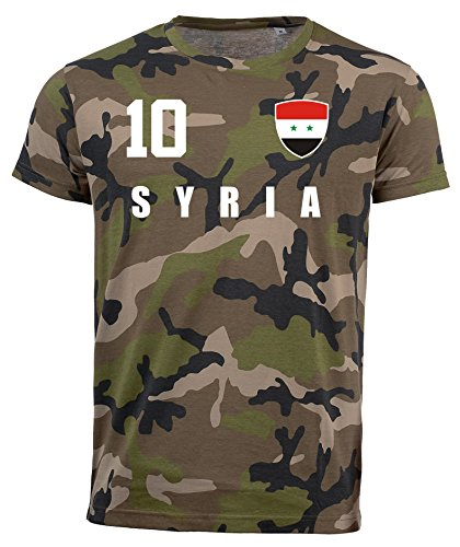 aprom Syrien Camouflage T-Shirt - All-10 - Trikot Army Look WM World Cup Syria (M)