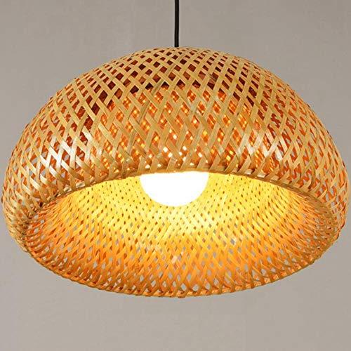FICI Bamboe Rieten Rotan Lampenkap Handgeweven Dubbellaags Bamboe Koepel Lampenkap Rustieke Lamp decoratie benodigdheden