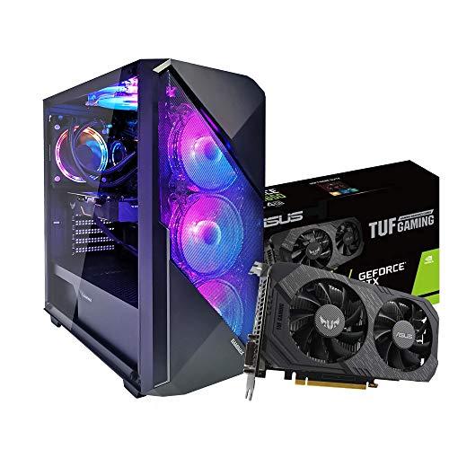Pc desktop gaming completo Intel i5 10400F 4.30Ghz / Asus Tuf Gtx 1650 Gaming 4gb Ddr5/ Ram Ddr4 8Gb,Ssd M.2 120gb + Hdd 1000gb,Wifi - Windows 10/ Computer da gaming assemblato/Pc gaming i5
