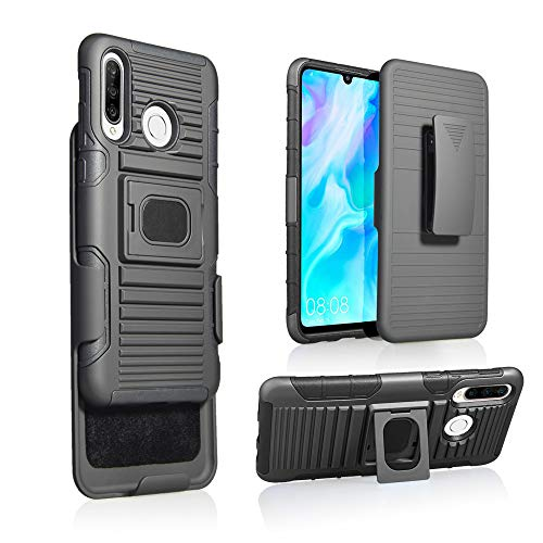 MyCrazyCover Clip Hülle kompatibel mit Huawei P30 lite Multi-Funktion All-In-One Outdoor Cover Camping Case Sport Hülle Baustellen Handy
