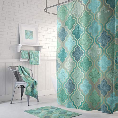 None Brand Marokkanischer Duschvorhang, Aquamarin, Grün