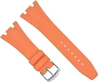 26mm Ap Rubber Band Strap Compatible with Audemars Piguet 15400 Royal Oak Offshore Orange