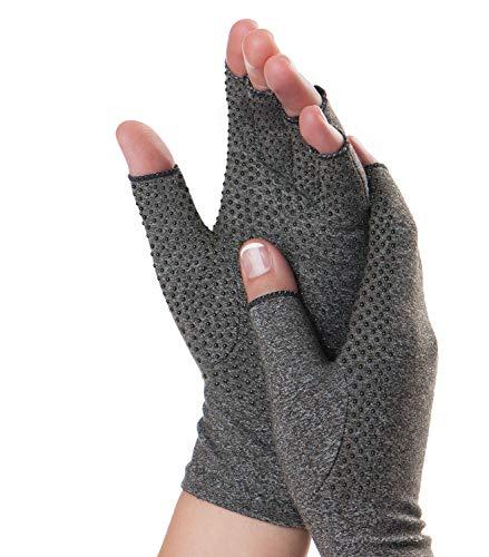 Dr. Frederick's Original Grippy Arthritis Gloves for Women & Men - Anti-Slip Compression Gloves for Arthritis Pain Relief - Rheumatoid & Osteoarthritis - Small