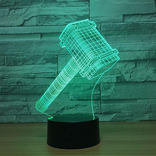 Hammer Kreative Party Spielzeug Baby Nachtlicht 3D LED Tischlampe Kinder Geburtstagsgeschenk Nachtzimmer Dekoration