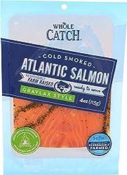 Whole Catch, Cold Smoked Farm-Raised Atlantic Salmon, Gravlax Style, 4 oz (Frozen)