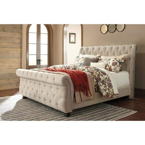 Ballwin Upholstered Sleigh Bed (Queen)